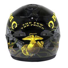 Hawk ST-1150 Marine Corps Glossy Dual-Visor Full-Face Motorcycle Helmet