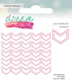 Websters+Pages+-+Dream+in+Color+Collection+-+Paperclip+-+Arrow+-+Pink+at+Scrapbook.com