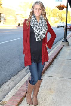 MUCH MERLOT CARDIGAN | CABOOSE BOUTIQUE