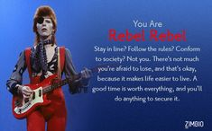I'm Rebel Rebel. Which David Bowie song are you? - Quiz
