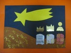 Maro's kindergarten: Ιδέες για Χριστουγεννιάτικες κατασκευές - Οι 3 μαγοι κολλαζ / 3 wisemen collage Chistmas craft