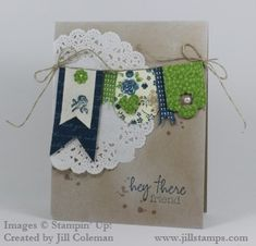 Hey There Friend Banner Card by jillastamps - Cards and Paper Crafts at Splitcoaststampers