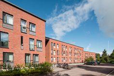 ArkOpen Student Apartment, Student House, Alvar Aalto, Surface Area, Brick, Multi Story Building, Yard, Exterior, Patio