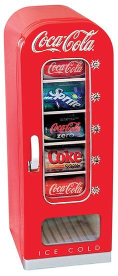 small, Coca-Cola-branded beverage refrigerator is perfect to keep drinks chilled and ready to drink in your family room, man cave, or even office. The Coca-Cola Vending Fridge holds 10 … Movie Theater Rooms, Home Theater, Theatre Rooms, Movie Rooms, Small Mini Fridge, Man Cave Mini Fridge, Mini Fridge In Bedroom, Deco Cinema, Beverage Refrigerator