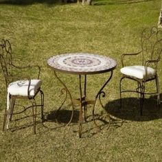 Mejores 22 Imagenes De Muebles De Forja De Terraza Y Jardin En - Sillas-de-forja-para-jardin