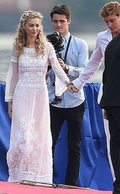 July 2015 - Beatrice Borromeo royal wedding to Pierre Casiraghi, grandson of Princess Grace of Monaco Famous Wedding Dresses, Royal Wedding Gowns, Civil Wedding, Royal Weddings, Bridal Gowns, Royal Brides, Charlotte Casiraghi, Italy Wedding, Grace Kelly