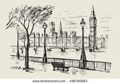 Image result for drwing city
