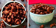 Bacon Cashews are a sweet-savory-salty snack, and they cook up in 10 minutes or less in your air fryer!
