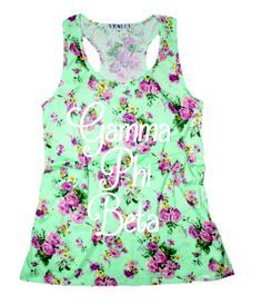 Gamma Phi Beta Floral Tank Design.  Cute Recruitment and PR shirt.  Contact Crescent Corner for all your custom group order designs!