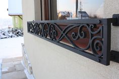 Gate Design, Window Design, Wrought Iron Window Boxes, Balcony Railing Design, Iron Windows, Iron Balcony, Stair Makeover, House Front Design, Grill Design