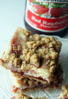 Raspberry cheesecake crumb bars (GF) might be the best bar cookie ever!