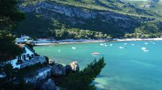 Portinho da Arrábida - A sheltered bay nestled at the foot of a mountain and surrounded by a marvellous landscape offers one of the best spots for snorkelling and scuba diving near Lisbon.  - http://www.welovelisbon.net/beaches-and-bays/portinho-da-arrabida