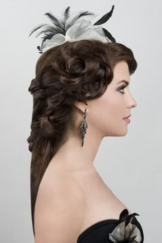 Model/Actress:  Donna Marie Rocco Hair Side View #UpDos Dream Catchers Salon LIKE us on www.facebook.com/DreamCatchersSalon and visit us at www.ellahairdesign.com #hairstyles