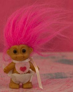 Mini Baby Troll Doll. $1.50, via Etsy.