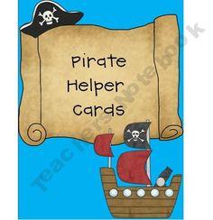 Pirate Helper Cards