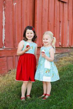 June Dress – Violette Field Threads Little Girl Dresses, Flower Girl Dresses, Staple Dress, Swing Skirt, Gathered Skirt, Dress Sewing Patterns, Skirt Fashion, Night Gown, Baby Dress
