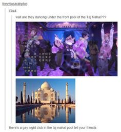 Gay nightclub in the pool under the Taj Mahal, I'm taking the next available flight there...