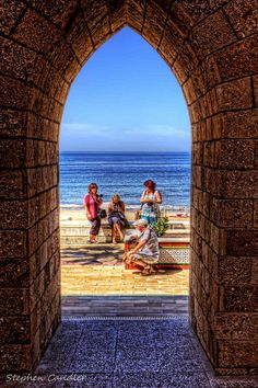 Archway leading to de beach in Rota, Andalusia_ Spain