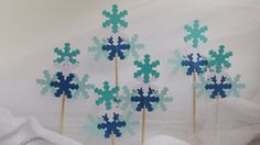 Set of 6 Christmas tree cupcake toppers Christmas by HelenKurtidu