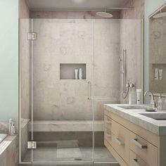 """DreamLine Unidoor-X 42"""" x 72"""" Hinged Shower Door Trim Finish:"""