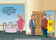 Uli Stein Postkarte / Was ernstes Der Uli Stein Online Shop Beste Comics, Humor, Funny Pictures, Lol, Fictional Characters, Illustration, Cartoon Jokes, Funny Cartoons, Funny Sayings