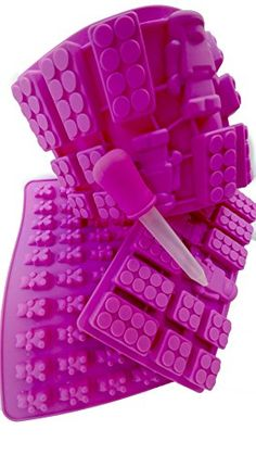 FUN PACK fdiym Gummy Bears Brick  Robot Molds Dropper for Candy or Ice Cubes * Click on the image for additional details.