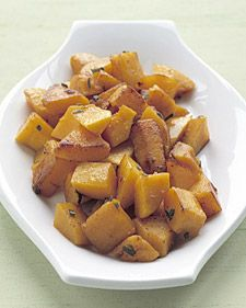 What is there not to love about butternut squash? Butternut squash with sage.