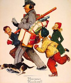 American Artist Norman Rockwell - Jolly Postman - By: Norman Rockwell   by x-ray delta one