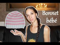 Tuto tricot : bonnet bébé naissance / knit baby cap birth - YouTube