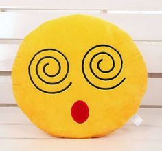 awesome Dizzy Face Emoji Pillow