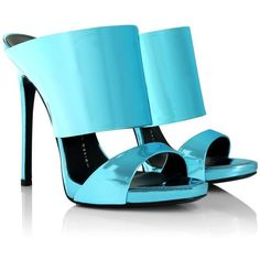 Giuseppe Zanotti  Coline Shooting Sandals Sky Blue Shoe (3.424.945 IDR) ❤ liked on Polyvore featuring shoes, sandals, blue, heels stilettos, blue platform sandals, blue stilettos, platform sandals and blue shoes