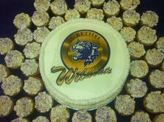 Bethel University cake and cupcakes created by Alicia @ Phat N Sassy Sweets
