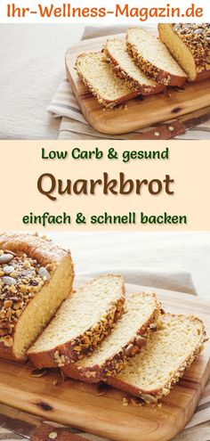 Low carb curd bread – a healthy recipe for baking bread Low Carb Quarkbrot – gesundes Rezept zum Brot backen Recipe for low carb curd bread: low in carbohydrates, without flour, healthy and well tolerated … carb Continue Reading → - Brunch Recipes, Breakfast Recipes, Desserts Végétaliens, Law Carb, Healthy Low Carb Recipes, Low Carb Bread, Bread Baking, Bread Food, Baking Recipes
