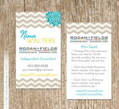 Rodan and Fields Business Card Printable Digital by TanyasPrints ...