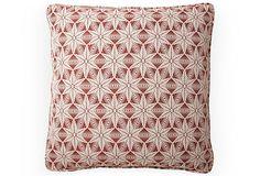 Polaris 20x20 Pillow, Brick Red - Michael S. Smith - OneKingsLane.com