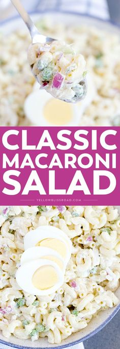 This Classic Macaroni Salad is a hit at parties & BBQs with adults & kids alike. It comes together easily and is the perfect side dish for summer parties.