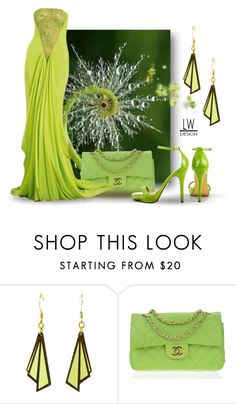 """Lime Green Lady"" by kashmier ❤ liked on Polyvore featuring Chanel, Michael Antonio and leatherwooddesign"