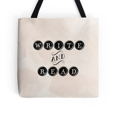 """""""Write and Read"""" Tote Bags"""