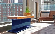Katch Design Company - I am digging the I beam bench! Why not outdoors? Furniture Making, Home Furniture, Outdoor Furniture Sets, Rustic Industrial Furniture, Modern Apartment Decor, Interior Architecture, Interior Design, Loft, Iron Table
