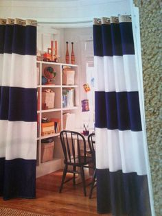 Rugby striped curtains