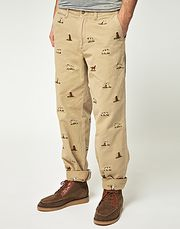 ralph lauren polo hound print chinos and they are on SALE!!!