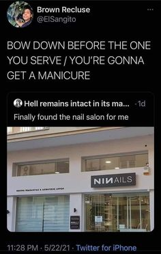 Brown Recluse, Rocker Chick, Manicure, House Styles, Music, Fun Stuff, Memes, Quotes, Nail Bar