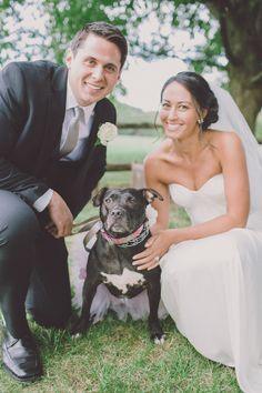 bride groom and dog http://trendybride.net/laurie-house-new-jersey-real-wedding/ #trendybride
