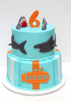 shark cake- like the turquoise color