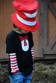 Cat in the hat tshirt