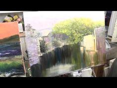 поросшая заводь научиться рисовать маслом, уроки живописи в Москве Сахарова - YouTube