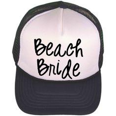 c7ac3d5364 Black & White Trucker Hat - Beach Bride - Trucker Cap - Monogrammed Trucker  Hat - Personalized Baseball Cap - Personalized Ball Cap - Shower by ...