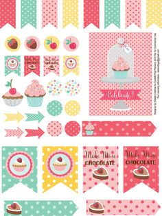 Planner & Journaling Printables ❤ Printable Planner Stickers Sweet Shop Collection