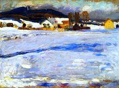 bofransson:    Wassily Kandinsky-Bei Starnberg - Winter, 1902 - Kandinsky
