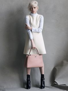 ivory + pink | Michelle Williams for Louis Vuitton